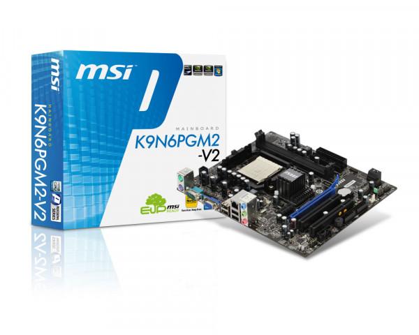 مادربرد دست دوم DDR2 MSI مدل N1996 سوکت 775