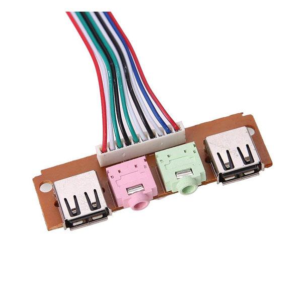 پنل صدا جلو کیس USB پورت میکروفون و هدفون